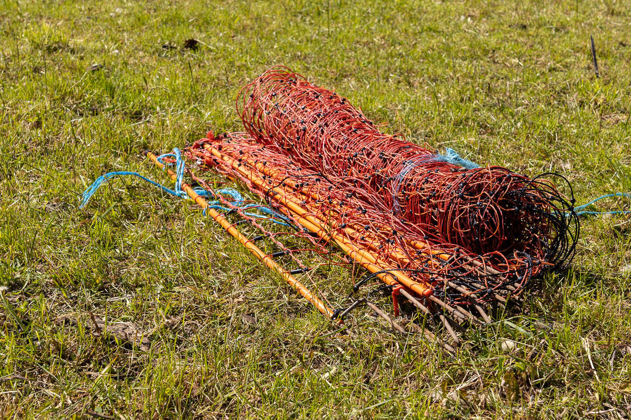 Schafnetzt aufrollen - Schritt 3