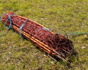 Schafnetzt aufrollen - So soll es dann aussehen